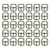 Mousyee Hebillas Metálicas Deslizantes, 30 Piezas Hebillas de Metal para Zapatos de 12 mm Hebillas...