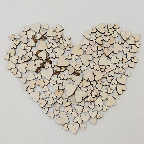 Vollter 100pcs/Pack Craft cucito tasti di legno a forma di cuore Pulsanti di progettazione senza foro