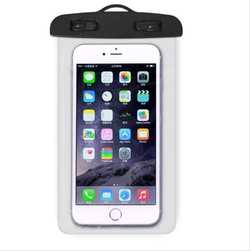 Mobile Phone Waterproof Touch Screen Sealed Bag Universal Transparent Mobile Phone Dry Bag Waterproof PVC Mobile Phone Bag Swimming Diving Water Sports Mobile Phone Bag 105x175mm White