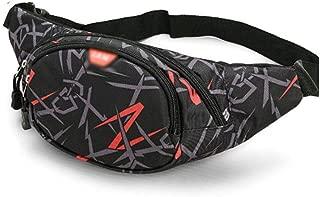 MKKYB Fanny Pack for Men Waist Bag, Men's and Women's Pockets Hip Bag with Adjustable Shoulder Straps Outdoor Exercise Travel Leisure Running Hiking Riding Black bumbag (Color : Red)