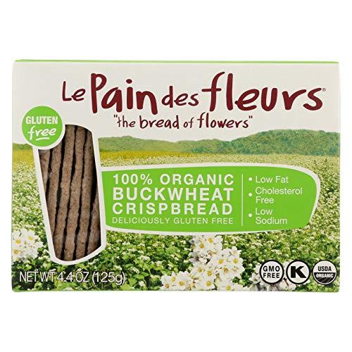 Le Pain Des Fleurs Organic Crisp Bread - Buckwheat - Case of 6 - 4.41 oz.