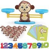 Homealexa Affen Balance Skala Math Spiel, Montessori Mathe Spielzeug Zählen und Rechnen...