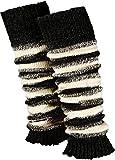 Piarini 1 par de calentadores para mujer – Calentadores de pierna en punto – lana en gris, blanco, negro y blanco Ringel negro y crudo. Talla única