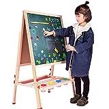 Caballete Infantil Los Niños De Madera De Doble Cara Base Del Arte Altura Ajustable Permanente Del Dibujo Del Arte De Caballete De Uso Múltiple Apto Para Niños ( Color : White , Size : One size )