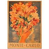 hzcl Papier Poster, Monaco Sommer Reise Poster Wand Kunst
