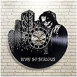 Reloj de Pared con Disco de Vinilo Reloj de Pared de Vinilo para Hombre de Arquitectura Urbana Reloj de Pared de Vinilo de 12 Pulgadas con decoración única para el hogar y la Oficina