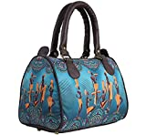 BANG PRICE Canvas digital printed multipurpose Blue Masai Tribal designer stylish duffle tote and Multicolor handbag for Girls/Women