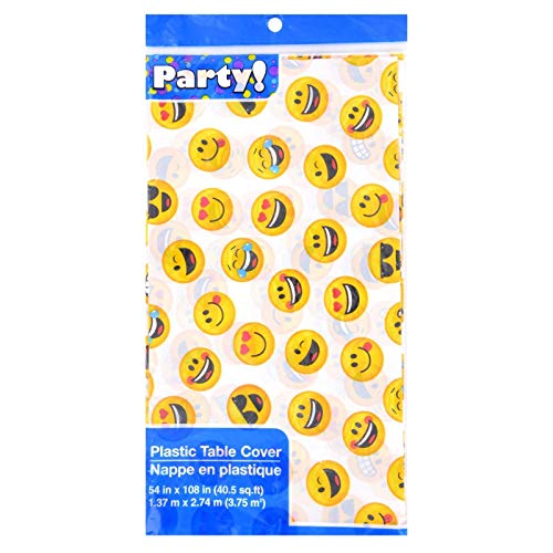 Emoji Party Plastic Table Cover 2 Pack