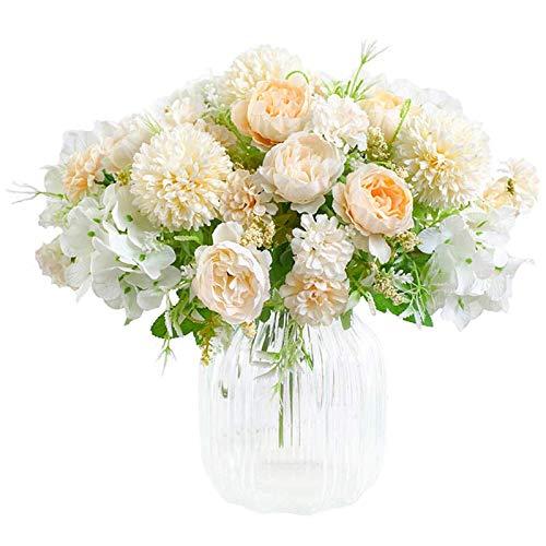 SODIAL Flores Artificiales, PeoníA Falsa, Hortensia de Seda