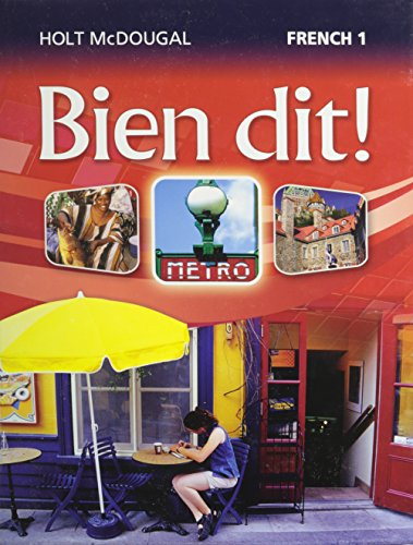 Bien Dit!: Student Edition Level 1 2013 (French Edition)