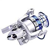Alomejor Carrete de Pesca con Rueda anticorrosión Plegable para el mar en Alta mar 2000 4000 5000 Series(#2000)