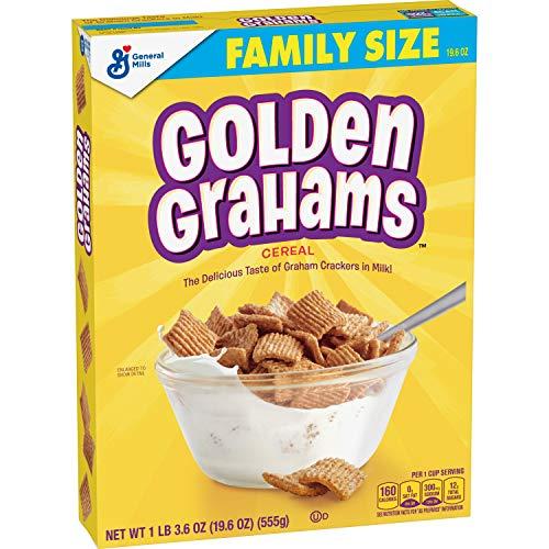 Golden Grahams Cereal, Graham Cracker Taste, Whole Grain, 19.6 oz (555 g)