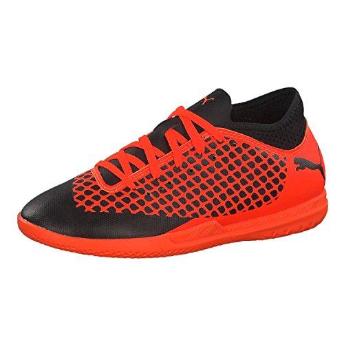 Puma Future 2.4 IT Fußballschuhe, Schwarz Black-Shocking Orange 02, 37 EU