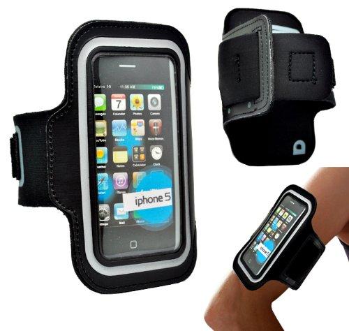 Accessory Master - Custodia a Fascia per Braccio per Apple iPhone 5G, Uso Sportivo, Colore: Nero