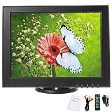YaeCCC 12 inch LCD Security Monitor 800x600 Resolution Screen with VGA/AV/TV Input Display for Surveillance Camera CCTV