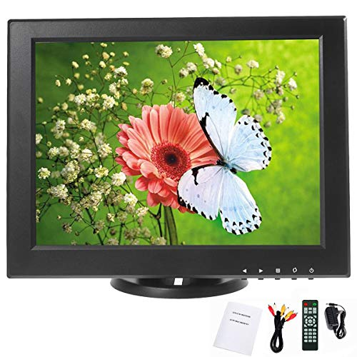 Find Discount YaeCCC 12 inch LCD Security Monitor 800x600 Resolution Screen with VGA/AV/TV Input Dis...