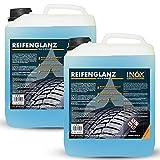 INOX® Reifenglanz - 2 x 5L Auto Kunststoffpflege & Gummipflege für Außen - Schwarz - Reifenpflege...