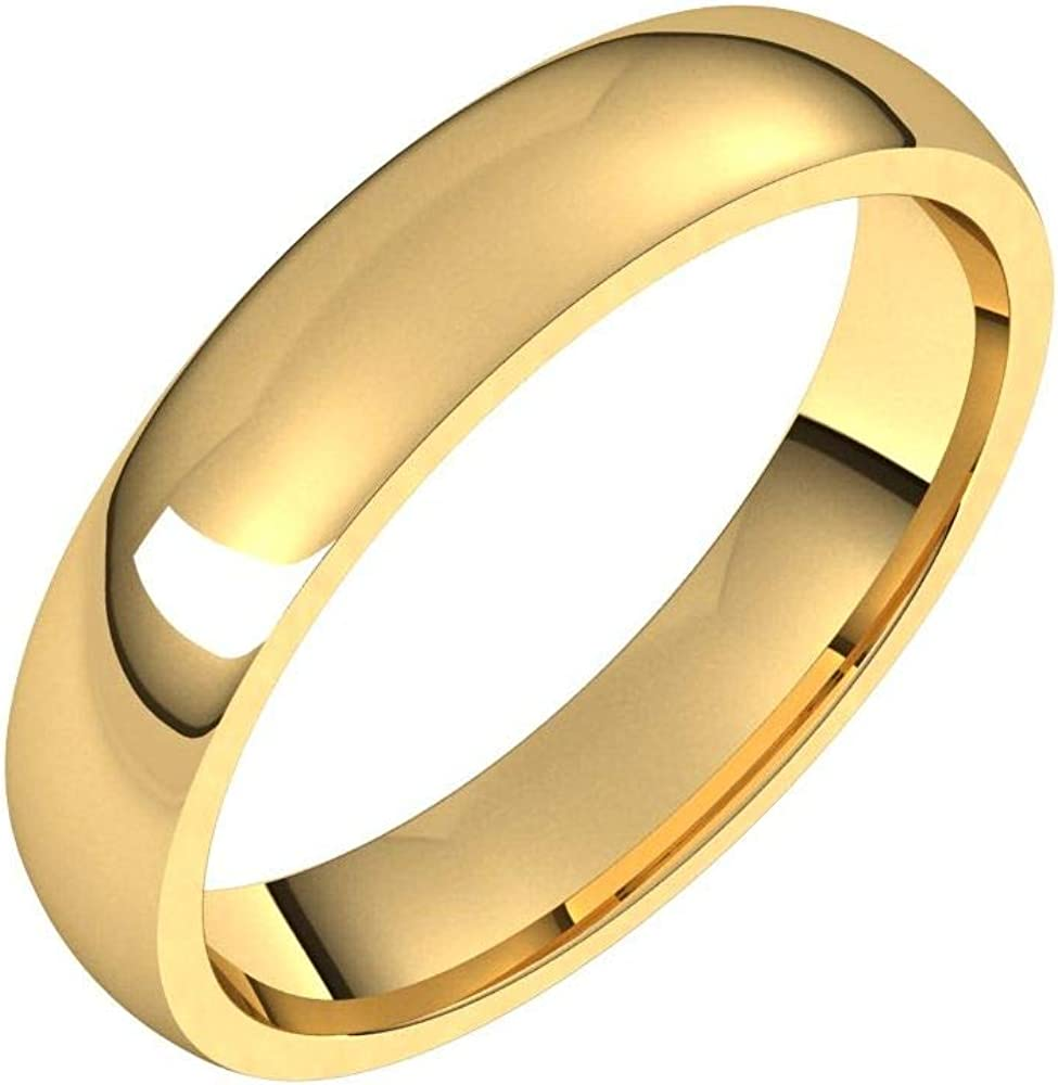 Solid 18k Same day shipping Yellow Gold Trust 4mm Comfort Band Classic Fit Wedding Ring