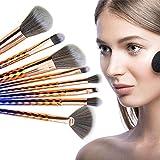 Herramienta pincel de maquillaje profesional química de fibra de pelo de plástico Varilla belleza con la sombra de contorno de ojos de la ceja del cepillo 8 piezas