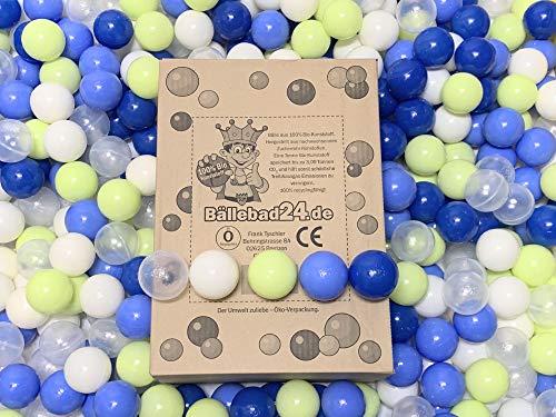 100 Bio-Kunststoff Bällebad Bälle aus nachwachsenden Zuckerrohr - Rohstoffen, 6cm Ø, Kindergarten und Gewerbequalität-BB02