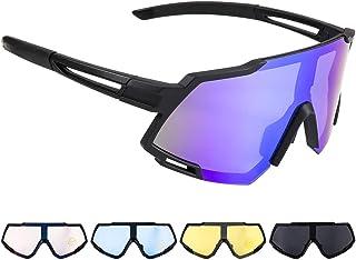 comprar comparacion Gafas de Sol Deportivas,CrazyFire Pantalla Grande Ciclismo Gafas Deportivas UV 400 Protección Gafas Deportivas Polarizadas...