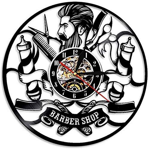YJTGZ Barber Tool Bag Belt Vinyl Watch Ciseaux Peigne Sèche-Cheveux pour Barber Noir Cadeau Décoratif pour Salon De Coiffure Boutique