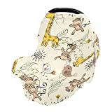 Nursing Cover Breastfeeding Scarf Cute Giraffe and Monkeys- Baby Car Seat Covers, Stroller Cover, Carseat Canopy(5br2c)
