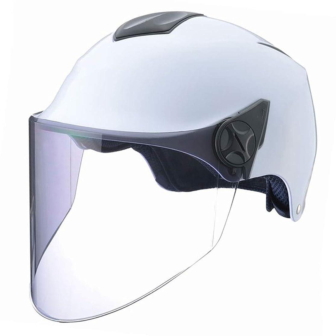 六以内にボールHYH 夏の電気自動車のヘルメット乗馬用ヘルメット大人ロングライトブラウンレンズハーフヘルメット安全ファッションフィットデザイン いい人生 (Size : M)
