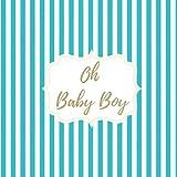 Baby shower niño Libro de firmas: de visitas para dedicatorias y recuerdos de invitados. Idea de regalo para el bebé. Detalle Accesorio Decoración de fiesta. Guest Book babyshower Español