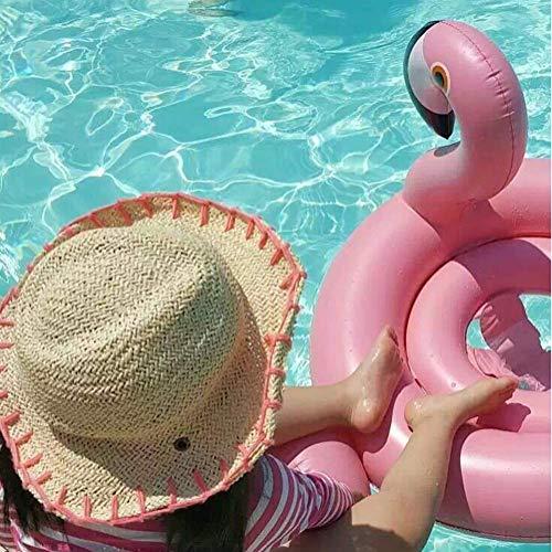 Xyl Anillo de la natación Inflable boya de pulgas Piscina Flamingo Pasar el Verano Jugando Cada Asiento reclinable descripción de embarcaciones Rose Beach Juguetes Infantiles para niños de Oro