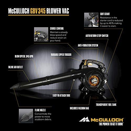 McCulloch GBV345 Petrol Leaf Blower/Vacuum