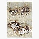 1 Art Vinci Formula Race Leonardo Sketch F1 Da Racing Car,