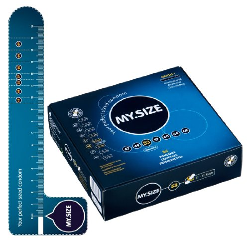 My.Size 53mm, die mittelgroßen Kondome für besten Tragekomfort und Sicherheit - 1 x 36 Kondome