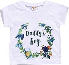 HAPPYMA Toddler Baby Boy Girl T-Shirts Daddy's Letter Tee Short Sleeve Tops Cotton Summer Clothes