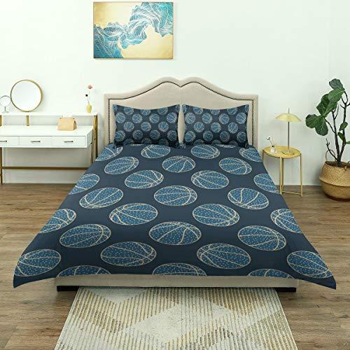 ZOMOY Microfiber Duvet Cover Set,Arty Basketball,Single(200 * 200cm),2 Pillowcase(50x80cm)