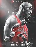 """Michael Jordan calendar 2022: Basketball Calendar planner 2021-2022.SPORT Calendar 2022-2023 – 18 months – BIG SIZE 17""""x11"""". Planner for all fans kids boys"""