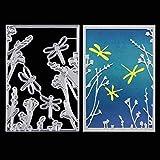 Metal Cutting Dies Stencils, KISSBUTY Criss-Cross Metal Dragonfly Scrapbooking Dies Cuts Handmade Stencils Template Embossing for Card Scrapbooking Craft Paper Decor (Dragonfly)