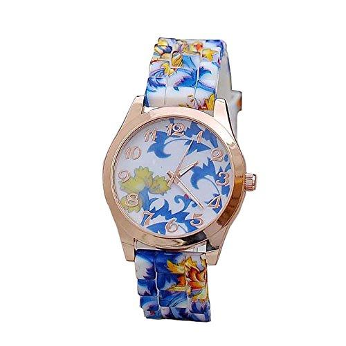 Tensay - Reloj de pulsera para mujer, diseño de flores, analógico, de cuarzo