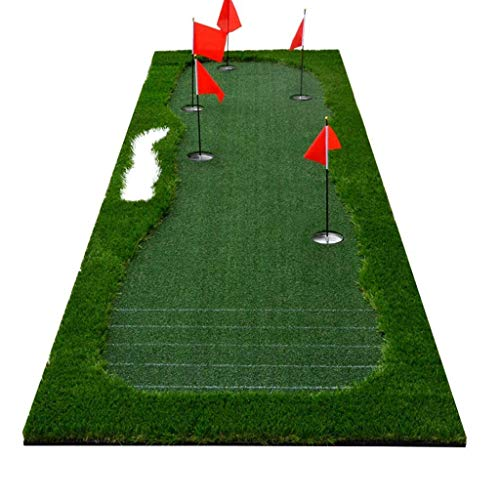 Cheap New Golf Indoor And Outdoor Putt Trainer Practice Blanket,Perfect Reaction Backed Golf Mat Use...