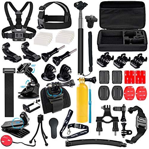 Suptig Accessoires Kit Compatibel met Gopro Hero 7/6/5/4/3/3+/2/1/Session En Sj Camera AKASO Dragon Campark Yi Xiaomi Action Camera Accessoires