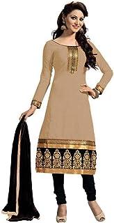 Karva Fashion Women's Cotton Semi-Stitched Salwar Suit