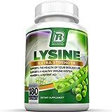 BRI Nutrition L-Lysine 180 Servings Per Bottle - Super 500mg Veggie Capsules