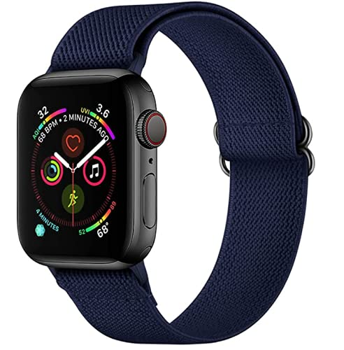 baklon Compatible con Correa Apple Watch 42mm/44mm,Soft Sport Reemplazo Elstica de Correa Nylon Compatible con iWatch Serie 6/5/4/3/2/1/SE