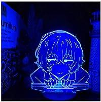 3Dイリュージョンナイトライト ゲームアニメーションキャラクター 3Dランプオプティカル7色段階的に変化する子供用LEDライトスマートタッチベッドサイドランプベッドルーム男の子用ホームデコレーションクリスマスギフト