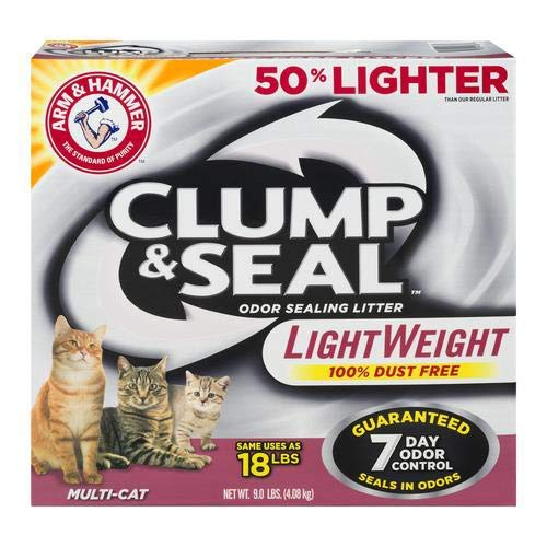 Arm & Hammer Clump & Seal Lightweight Cat Litter, Multi Cat 9 lb