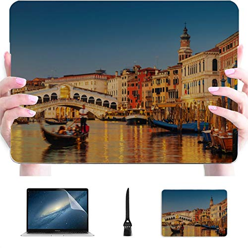 15 Inch Laptop Cover Famous Canal and Bridge at Sunset Plastic Hard Shell Compatible Mac Air 13' Pro 13'/16' MacBook Pro13 Inch Case Protective Cover for MacBook 2016-2020 Version