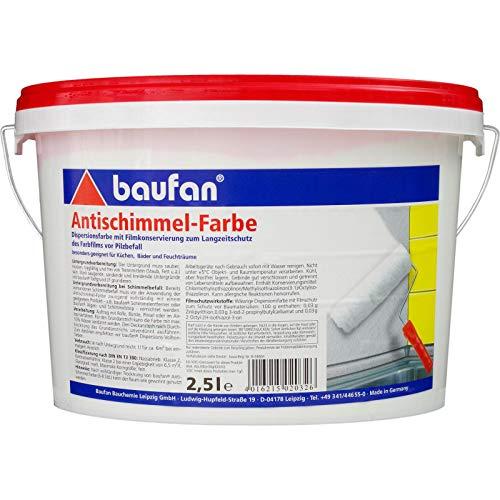 Baufan Antischimmelfarbe Anti-Schimmelfarbe 2,5l
