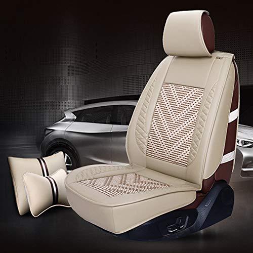 shuhong Car Seat Cover Classic Full Set Airbag Compatibel en Split Bank Rood/Zwart/koffie/rijst Kleur- Fit meeste auto, Vrachtwagen, Suv