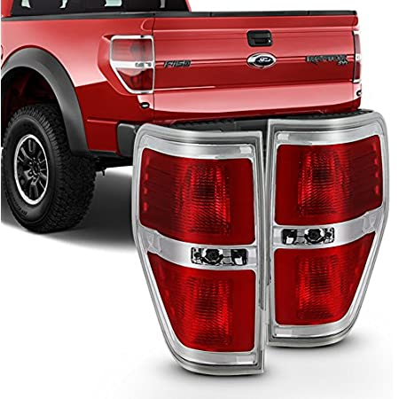 Red Clear Tail Lights Fit 2009-2014 Ford F150 Pickup Truck Clear Headlights