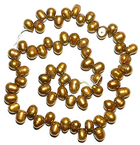 Antiqued Copper 8-9mm Cultured Freshwater Top-Drilled Rice Pearl Bead 15